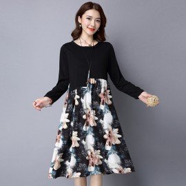 Baroque Printed Dress (2 Colors)