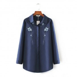 LM+ Floral Embroidered Shirt (2 Color)
