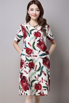 Floral Print Dress (2 Colors)