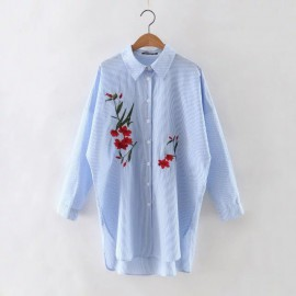 Embroidered Slouchy Shirt