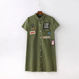 Dress with Badge (2 Color)