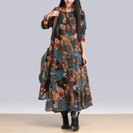 Baroque Print Dress (2 Colors)