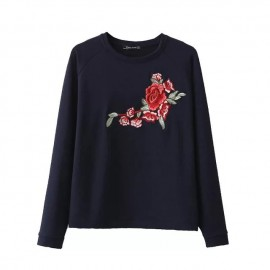 Floral Embroidered Pullover (2 Color)