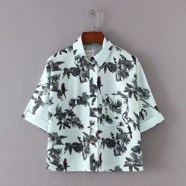Tropical Motif Shirt