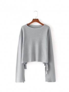 Crop Pullover with Ribbon