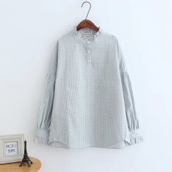 LM+ Gingham Blouse