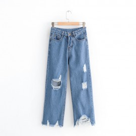 Denim Cut-Out Jeans