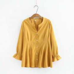 LM+ Fluted Sleeve Blouse