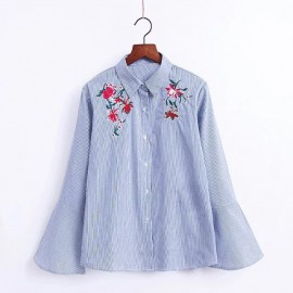 Floral Shirt with Bell Sleeves