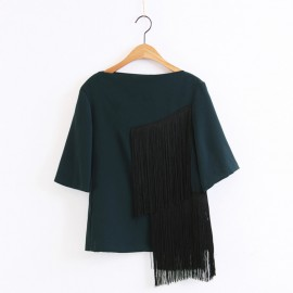 Blouse with Tassel