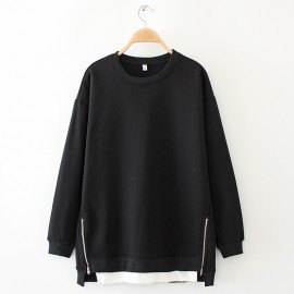 LM+ Pullover with Zipper Detail