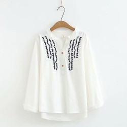 LM+ Embroidered Blouse