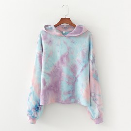 Tie-Dye Pullover with Hood