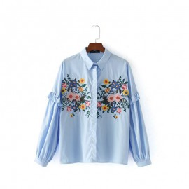 Floral Embroidered Shirt