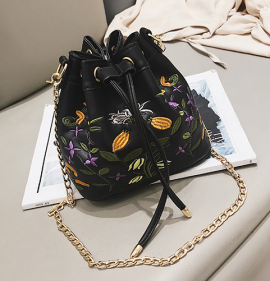 Floral Embroidery Tote