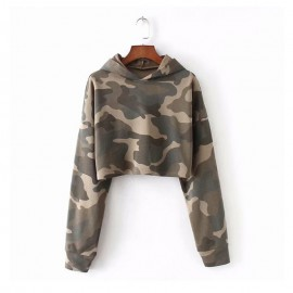 Crop Camo Sweater