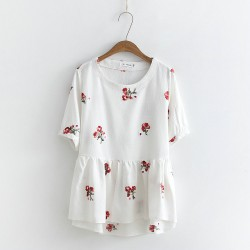 LM+ Floral Babydoll Blouse