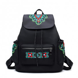 Floral Motif Backpack