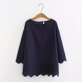 LM+ Crotchet Detail Blouse
