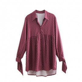 Long Polka Dot Blouse