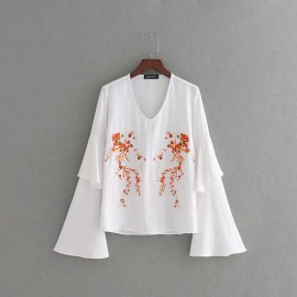 Floral Flare Blouse