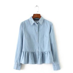 Denim Peplum Shirt