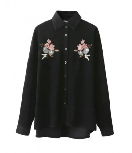 Embroidered Corduroy Shirt