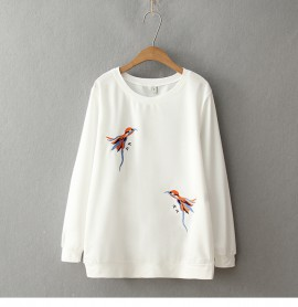LM+ Bird Embroidered Pullover