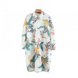 Tropical Motif Tunic