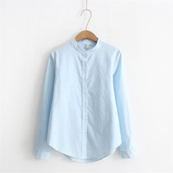 Mao Collar Blouse
