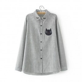 LM+ Cat Motif Shirt (2 Color)