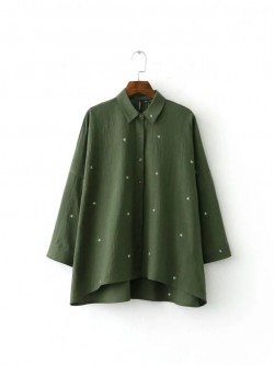 Star Embroidered Shirt (2 Color)
