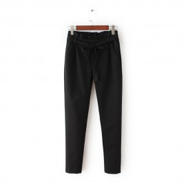 Pants with Ruched Waistline (2 Color)