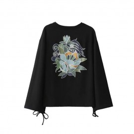 Outerwear with Floral Back