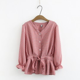 LM+ Checkered Blouse