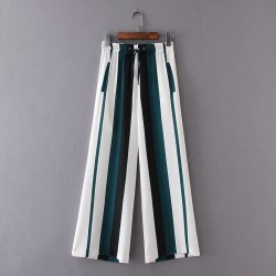 Stripe Drawstring Pants