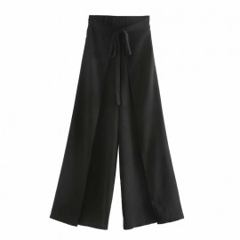 Front-Tie Casual Pants