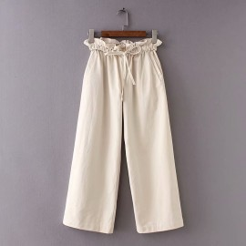Pants with Ruched Waist