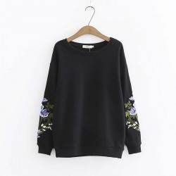LM+ Floral Sleeve Pullover
