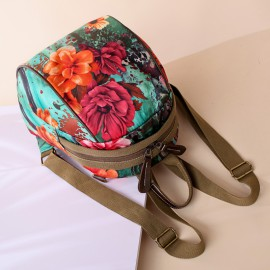 Flower Print Backpack