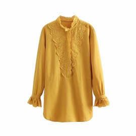 Blouse with Crotchet Lace Detail