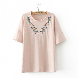 LM+ Floral Embroidered Top