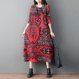 MIRA Reflection Motif Dress
