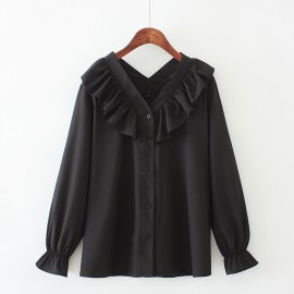 LM+ Frill Collar Blouse