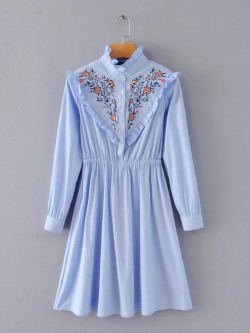 Flower Embroidered Dress
