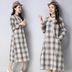 MIRA Checkered Dress