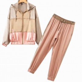 Athletic Inspired Jacket and Pants Set