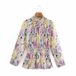 Abstract Motif Blouse