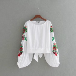 Floral Sleeve Blouse