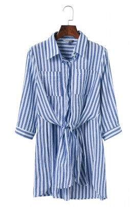 Stripe Tunic with Knot